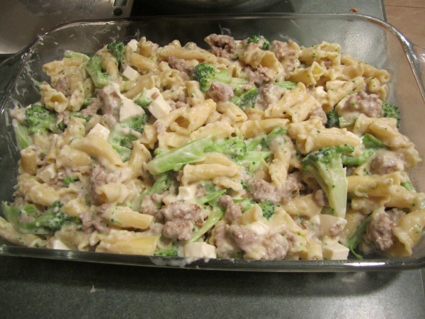 Pasta and Sausage Bake 008