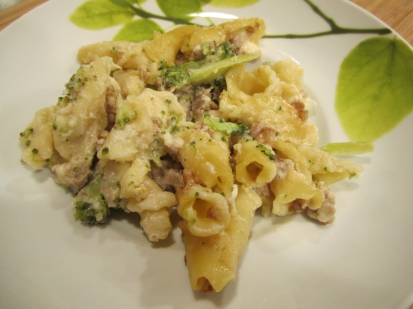 Pasta and Sausage Bake 011