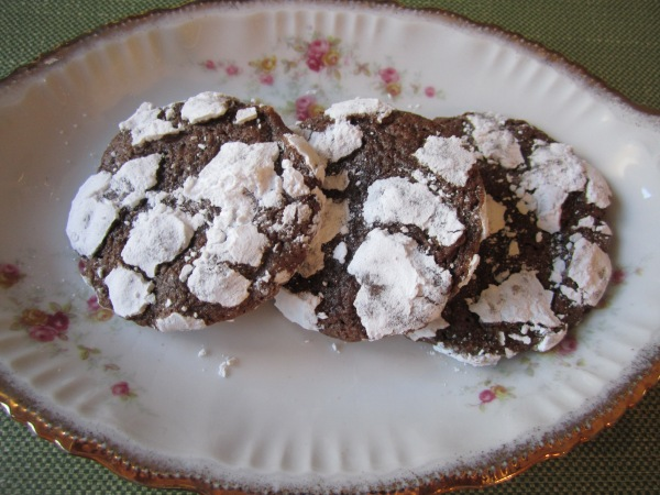 Chocolate snowflake cookies 011
