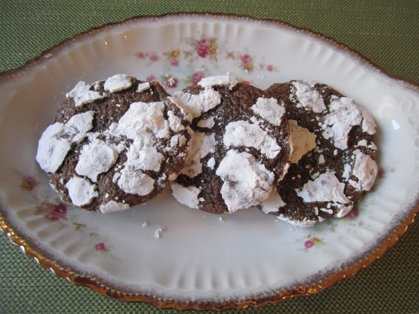 Chocolate snowflake cookies 012