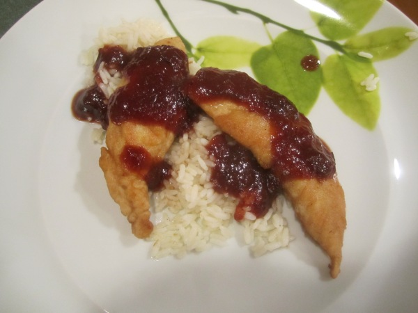 Chicken with Cranberry Barbecue Sauce 009